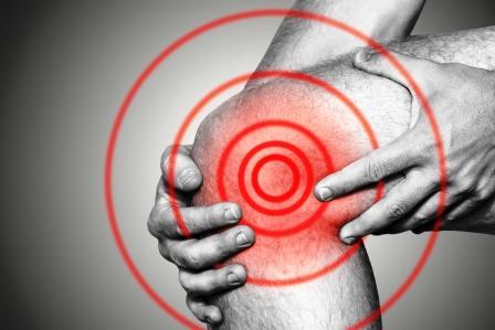 akútna bolesť kolena - zvýraznené niesto bolesti