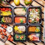 zdravé jedlá a potraviny v koncepte krabičkovej diéty