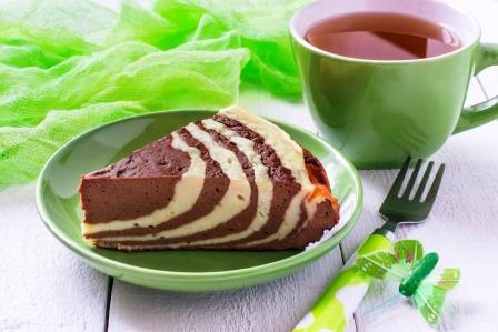 mramorová fit tvarohová torta