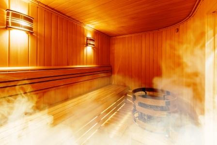 interier finskej sauny