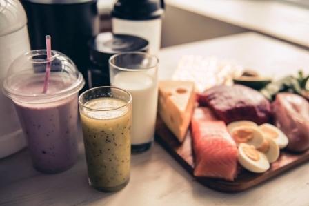 fitness napoje a potraviny